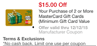 Meijer $15 Off MasterCard Gift Card Promotion