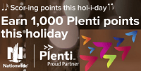 Nationwide Free 1000 Plenti Points Bonus