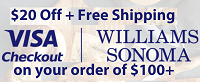 Visa Checkout Williams Sonoma $20 Off $100
