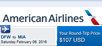American Airlines Cheap Non-stop Roundtrip Flights