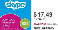 BestBuy Discounted $25 Skype Prepaid Card