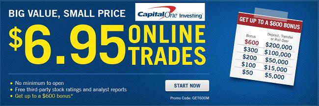 Capital One Investing $600 Bonus