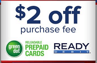 family dollar 2 off green dot cards purchase fee - Family Dollar Prepaid Cards