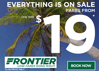 Frontier Discount Den Members: $19 One-Way Sale