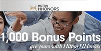 Hilton HHonors Corporate Travelers 1,000 Bonus Points