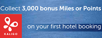 Kaligo Free 3,000 Bonus Miles Points