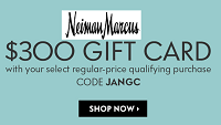 Neiman Marcus $300 Gift Card Bonus Purchase