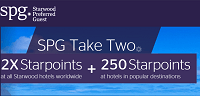 SPG 2x Plus 250 Bonus Starpoints Take Two Promotion