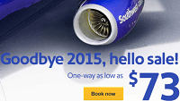 Southwest New Year Fare Sale