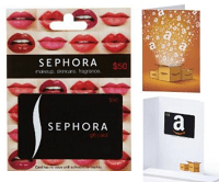 Amazon $10 Bonus Sephora $50 Gift Card Purchase