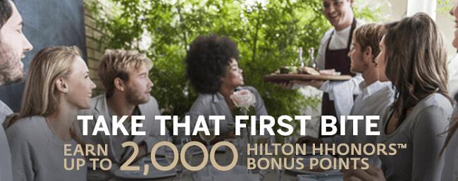 Hilton H Honors 2000 points promotion