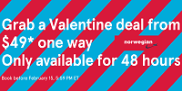 Norwegian 48 Hour One Way Sale: Prices Starting at $49