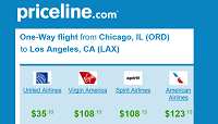 Priceline Cheap Non-Stop One Way Flights
