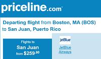 Priceline has Cheap Non-stop Rt Flights Boston to San Juan, Puerto Rico