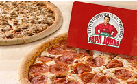 Groupon Papa John's $25 Gift Card Two Free Bonus Pizzas Promotion