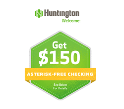 Huntington Bank $150 Bonus