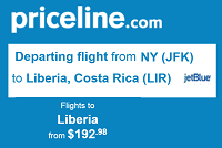 Priceline Cheap Nonstop R/t Flights JFK To Costa Rica