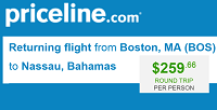 Priceline Cheap Nonstop R/t Flights Boston to Nassau