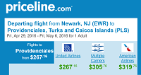 Priceline Non-Stop Round Trip Flights Newark to Turks and Caicos Islands