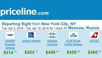 Priceline Nonstop Round-trip Fares From New York to Moscow, Russia