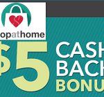 Shopathome.com $5 Shopping Bonus After $150 Purchase: Up to $15 Free