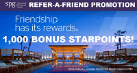 Starwood Preferred Guest Refer-A-Friend 1,000 Starpoints Bonus Promotion