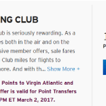Citi ThankYou Points 25% Bonus Virgin Atlantic Flying Club Miles