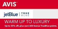Avis Free TrueBlue Bonus Points