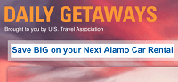 Daily Getaways Alamo Rent A Car $25 For $50 Gift Card Promotion