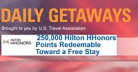 Daily Getaways Hilton HHonors 500,000 Bonus Points Purchase Promotion