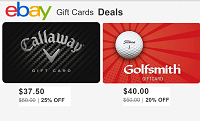 Ebay Discounted $50 Golf Store Gift Cards Promotion