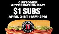 Jimmy John's Sandwiches Customer Appreciation Day
