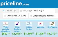 Priceline Round Trip Flights Departing Los Angeles to Bali