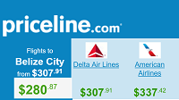 Priceline Round Trip Flights Departing from Los Angeles to Belize