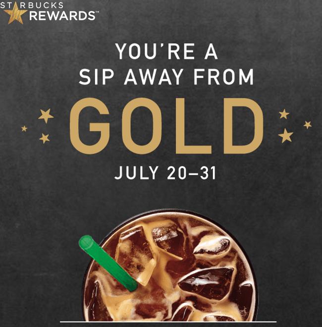 Starbucks Rewards Free Gold Status Promotion