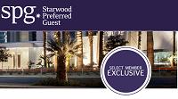 Starwood Preferred Guests Select Member Exclusive Bonus Promotion