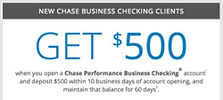 Chase $500 Promotion