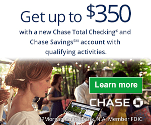 Chase Checking Savings $350