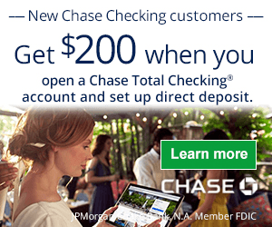 Chase Total Checking $200