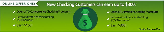 td bank new account offer