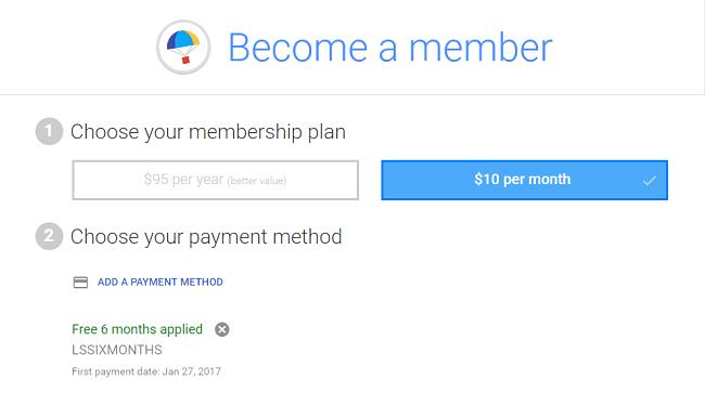 Google Express 6 month membership