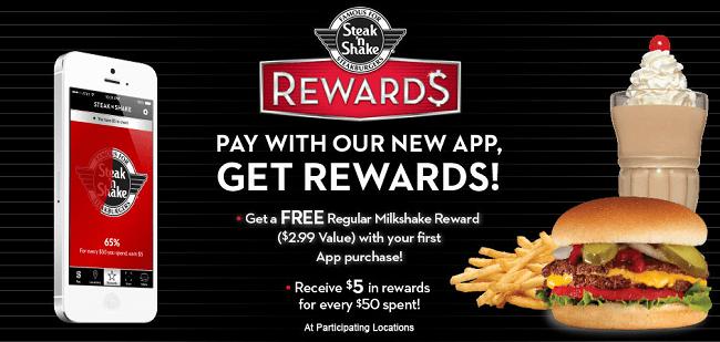 steak n shake free rewards app