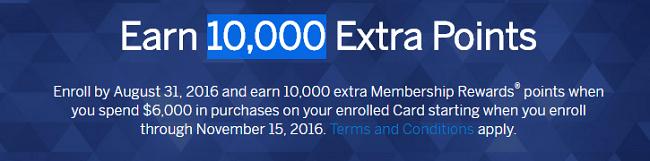 American Express 10000