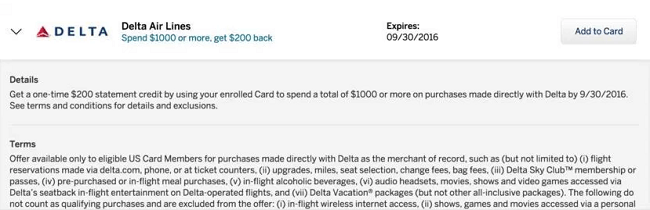 AMEX Offers Delta Promotion: $1111 Statement Credit for $11,11 Purchase