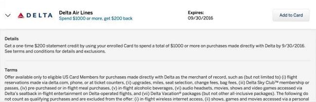 Amex Delta Offer
