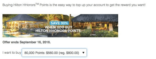 Hilton HHonors 50 Off Points