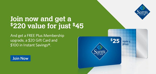 Sams Club Membership 20 bonus