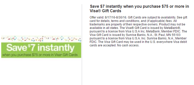 shaws save 7 instantly on 75 visa gift cards purchase me ma nh ri vt - Buy Visa Gift Card Online Instant