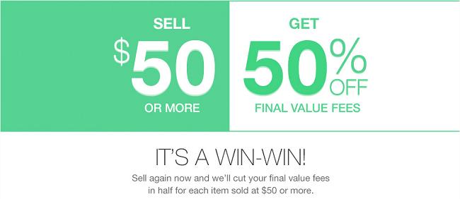 eBay Final Value Fee Promo