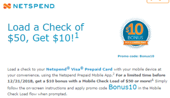 netspend prepaid card promotion - Upload Check To Prepaid Card